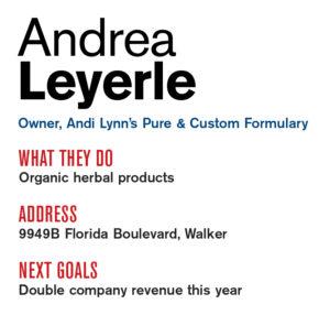 Entrepreneur Andrea Leyerle