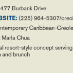 Creole Cabana Business Lunch