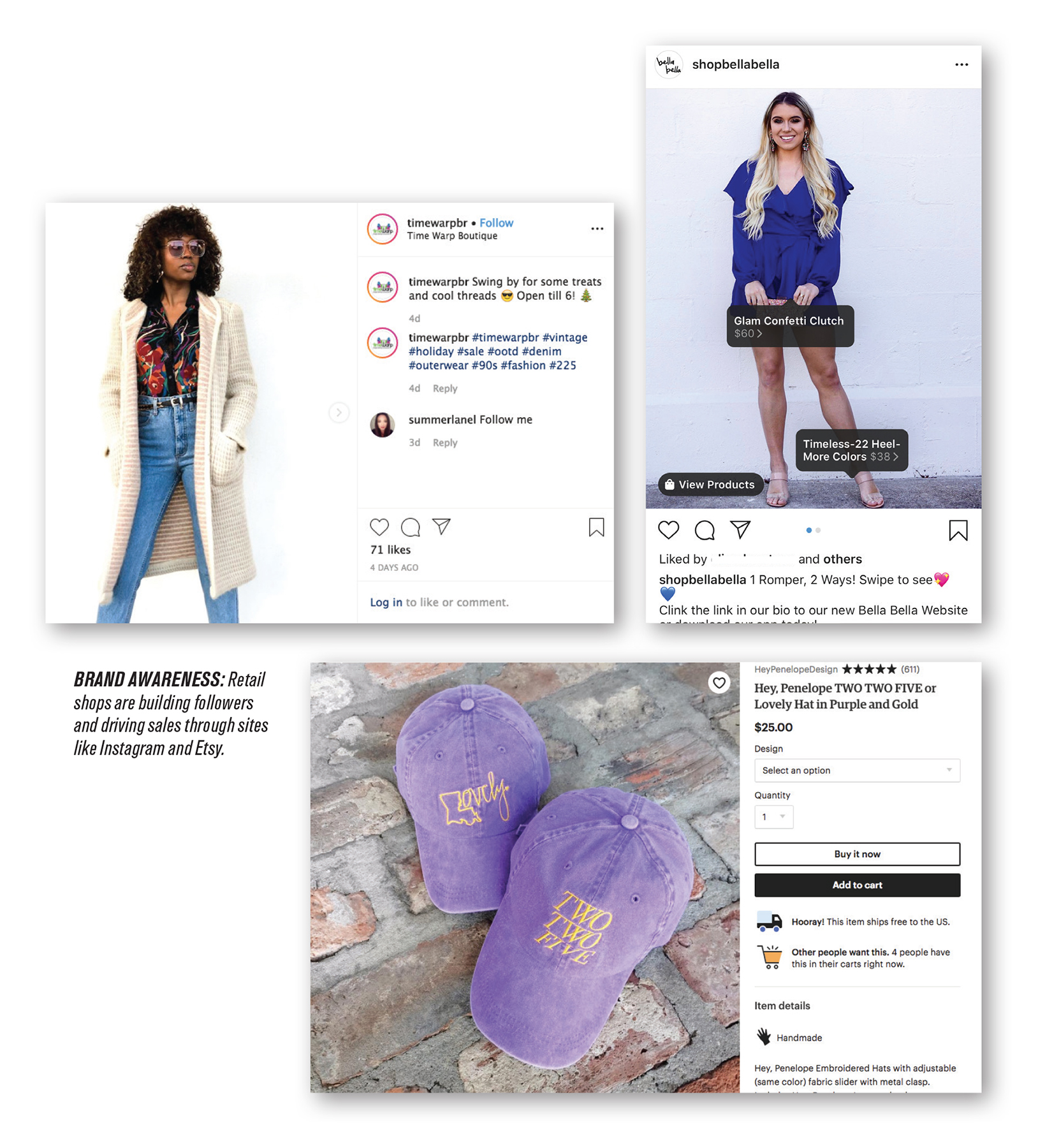 retail instagram etsy